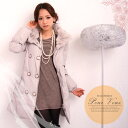 Write a review; and free shipping  luxurious rabbit fur * down coat * wedding ceremony * second party * party * deep-discount lady's limitation [smtb-k] [w2] 1154 [RCP]
