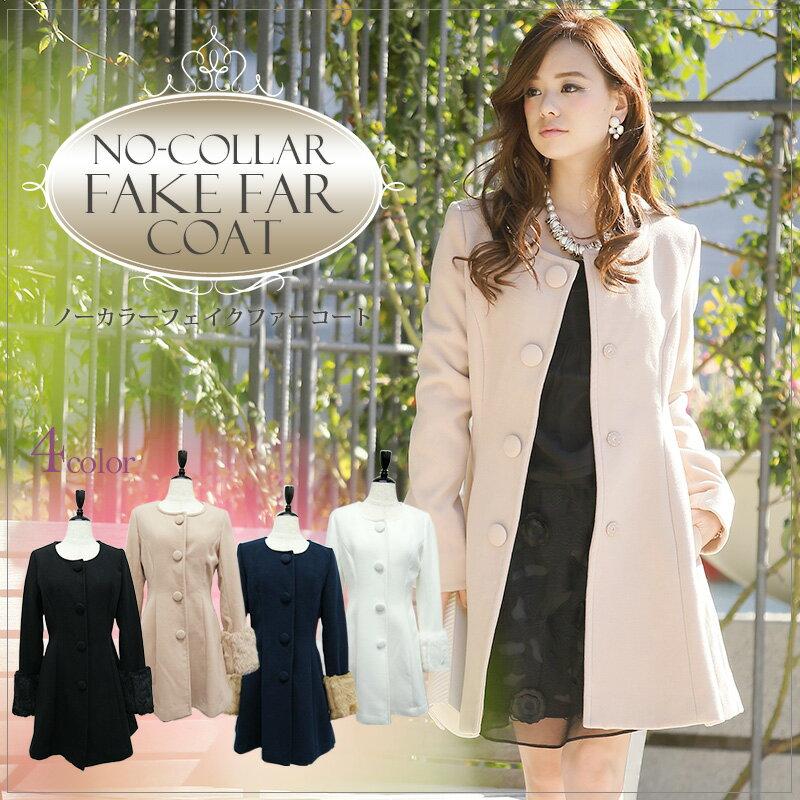 【結婚式 コート 冬】細部のディティールにこだわったコートです。広がりのあるデザインで高級感をかもしだしドレスにも合わせやすくなっています