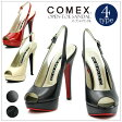 COMEX オープントゥサンダル コメックス クール プラットフォーム ハイヒール ストーム サンダル オープントゥ ミュール フォーマル 靴 レディス限定 s5412 新作 20代30代40代50代 ファッション 春