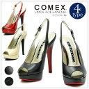 ≪送料無料≫レディースシューズ 靴 サンダル COMEX コメックス エナメル ストーム オープントゥ フォーマル 雑誌掲載