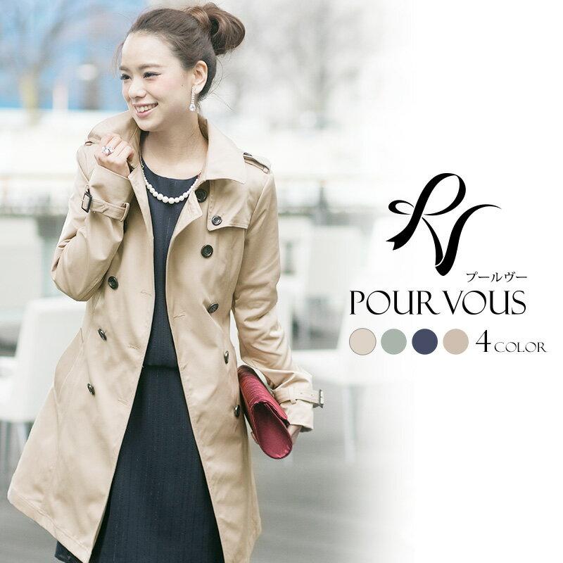 コーデ次第で、クールにも可愛くも着こなせるのがこのコートの魅力