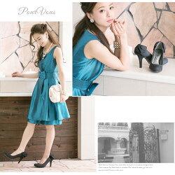 ラメバックリボンパーティーシューズパンプスミュールレディースファッションフォーマル低反発ソールハイヒール靴レディス限定小さいサイズ大きいサイズs011新作20代30代40代50代ファッション春
