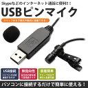 楽天スーパーセール USB ピンマイク 無指向性 クリップ付き マイクロフォン 有線 小型 PC パソコン Skype インターネット通話 ハンズフリー PR-USBMIC【メール便 送料無料】