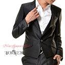 Black Suit シングルセットアップスーツ/光沢スーツ・光沢生地スーツ・パーティースーツ・黒光沢スーツ・ホストスーツ・結婚式スーツ・..