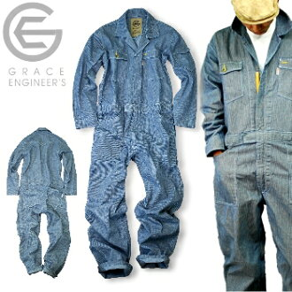 It is 100% of hickory overall /GE-105/ cotton / combined use / [2012 EXS fillers] * overall men filler fashion * [SK express]