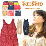 「Sun3San(サンサンサン)」(新)サラダプリントサロペットパンツ/S3S-PS1505/【2016 WEX 年間 ヤッケ レディース】