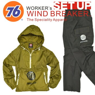 「 76Lubricants (나 르) 」 WORKERS FIELDWEAR (상하 중 ヤッケ)/No.76-PO113PP/