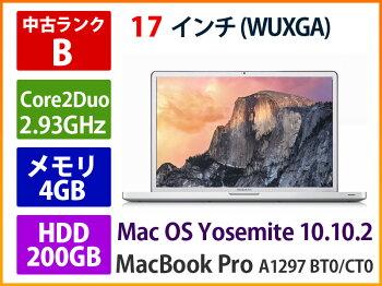 ��10,000��OFF��APPLEMacBookProA1297BT0/CT02009ǯCore2Duo2.93GHz4GB200GBSD�ڤ����ڡۡ�����ʡ�6175���Ͳ����������