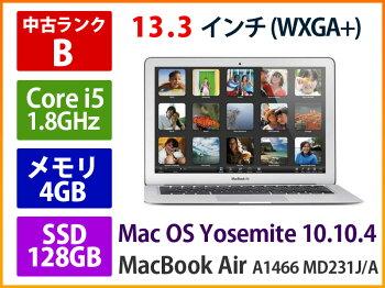 中古APPLEアップルMacBookAirA1466MD231J/A2012年モデルCorei51.8GHz4GBSSD-128GB【あす楽】【中古品】【消費税込】【送料・代引手数料無料】