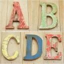 木製 アルファベット 切り文字 オブジェ 『ABCDE』 高さ18cm ボート再生家具 イニシャル インテリア 無垢材 古材 リサイクルウッド リユース木材
