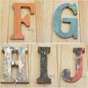 木製 アルファベット 切り文字 オブジェ 『FGHIJ』 高さ18cm ボート再生家具 イニシャル インテリア 無垢材 古材 リサイクルウッド リユース木材