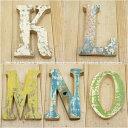 木製 アルファベット 切り文字 オブジェ 『KLMNO』 高さ18cm ボート再生家具 イニシャル インテリア 無垢材 古材 リサイクルウッド リユース木材