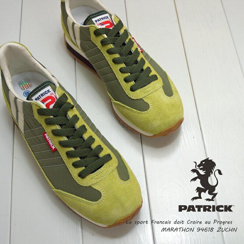 限定カラーマラソン 限定カラー ズッキーニ PATRICK スニーカー MARATHON ZUCHN 94618[メンズレディース]パトリック
