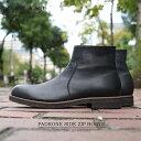 ショッピングタープ パドローネ サイドジップブーツ ラウルウォータープルーフ ブラック PADRONE SIDE ZIP BOOTS RAUL Water Proof Leather BLKPU-7358-1121-16C