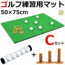 ゴルフ 練習 マット スイング SBR 50×75cm Cセット