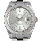 ロレックス デイトジャストII 116334 シルバー/バー メンズ(0671ROAN0027)【新品】【腕時計】【送料無料】