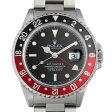 ロレックス GMTマスターII 赤黒ベゼル チャックイエーガー ファーストモデル U番 16710 メンズ(07YOROAU0001)【中古】【腕時計】【送料無料】