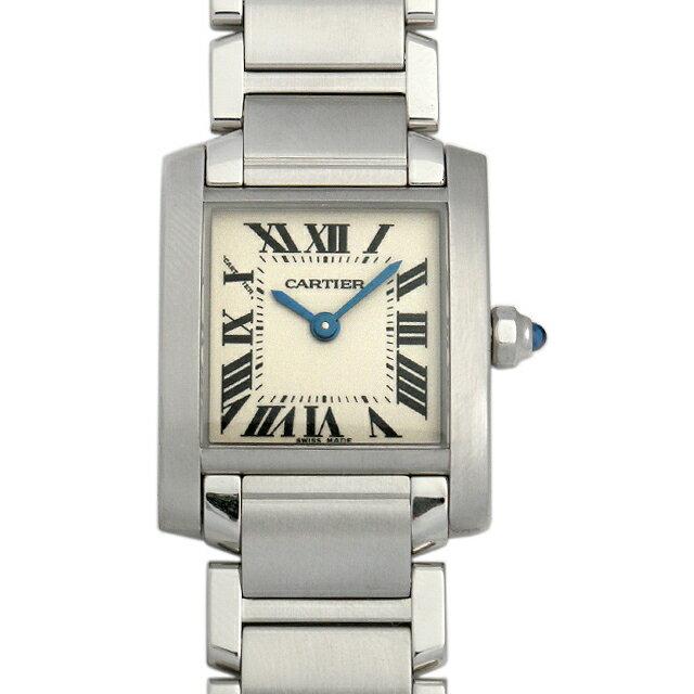 カルティエ タンクフランセーズ SM W51008Q3 レディース(008WCAAU0060)【中古】【腕時計】