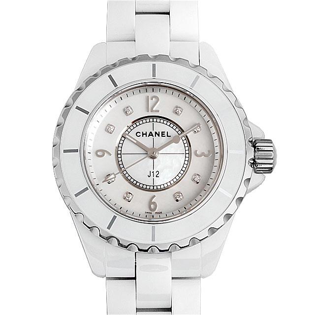 シャネル J12 白セラミック 8Pダイヤ H2422 レディース(0671CHAN0154)【新品】【腕時計】【送料無料】 CHANEL(シャネル) J12 白セラミック 8Pダイヤ H2422 ホワイト/White 新品 レディース