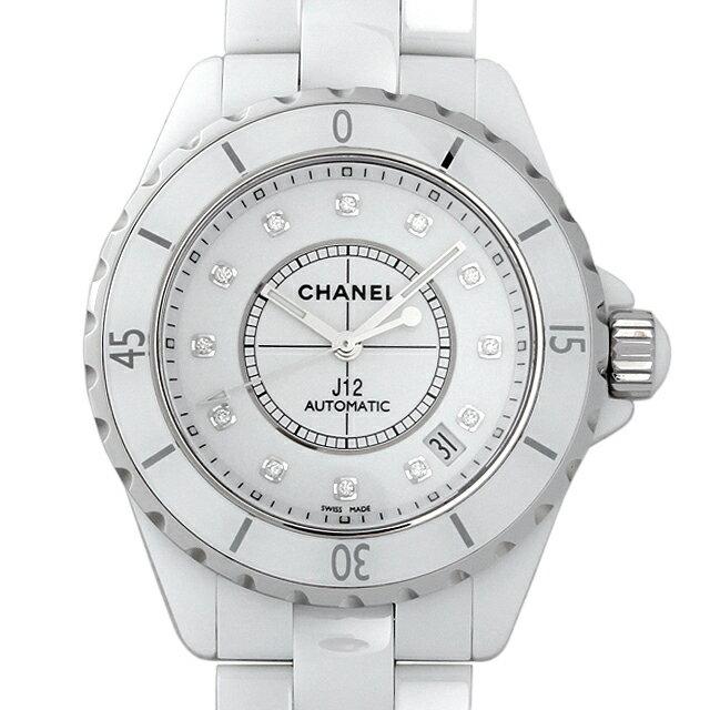 【48回払いまで無金利】シャネル J12 白セラミック 12Pダイヤ H1629 メンズ(0671CHAN0433)【新品】【腕時計】【送料無料】