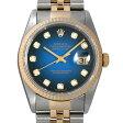 ロレックス デイトジャスト 10Pダイヤ T番 16233G ブルーグラデーション メンズ(0042ROAU0024)【中古】【腕時計】【送料無料】