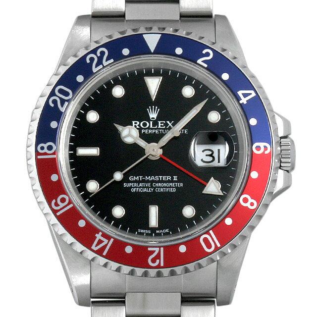ロレックス GMTマスターII 赤青ベゼル A番 16710 メンズ(0087ROAU0109)【中古】【腕時計】【送料無料】