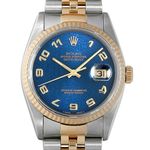 SALE ロレックス デイトジャスト X番 16233 ブループリントコンピューター/アラビア メンズ(009VROAU0142)【】【腕時計】【送料無料】 ROLEX(ロレックス) デイトジャスト 16233 ブルー/Blue  メンズ