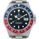 ロレックス GMTマスターII 赤青ベゼル N番 16710 先端ドット メンズ(009VROAU0151)【中古】【腕時計】【送料無料】