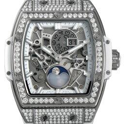 ウブロ スピリット オブ ビッグバン ムーンフェイズ チタニウム ホワイト パヴェダイヤ 647.NE.2070.RW.1604 メンズ(009FHBAN0060)【新品】【腕時計】【送料無料】