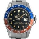 【48回払いまで無金利】ロレックス GMTマスター 18番 1675 ブラックミラー/小針 エクステンションUSリベットブレス メンズ(007UROAA0047)【アンティーク】【腕時計】【送料無料】
