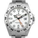 【48回払いまで無金利】ロレックス エクスプローラーII 216570 ホワイト ランダムシリアル メンズ(006XROAU1269)【中古】【腕時計】【送料無料】