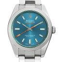 【48回払いまで無金利】ロレックス ミルガウス 116400GV Zブルー メンズ(0FTBROAU0005)【中古】【腕時計】【送料無料】