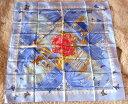 ★HERMES★エルメス ケリースカーフ ブルー系88×88サイズ♪未使用品★【中古】 10000144◆◆