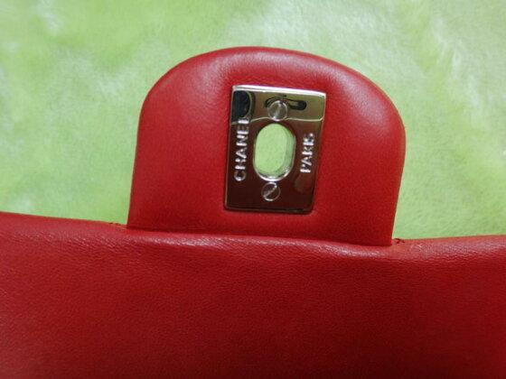 @★シャネルCHANELラムマトラッセショルダーバッグ赤超美品【中古】