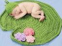 ベビー・新生児ファッション 手編み帽子 ニット帽子+シート2点セット 新品未使用品 t-030△△z2100