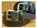 牛革ベルト■30mm 1枚革のシンプルな帯に共糸でステッチを入れてあります。オン、オフどちらのシーンでも使えます。【サイズ調整可】【男女兼用/メンズ、レディース】【よりどり選んで3本セット対象商品】