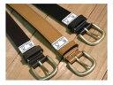 牛革ベルト ■30mm ♪1枚革のシンプルな帯に共糸でステッチを入れてあります。オン、オフどちらのシーンでも使えます。122cmのロングフ..