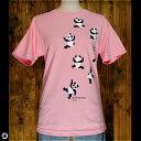 6.2oz半袖Tシャツ : のぼるパンダ : ピンク