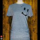 4.3ozライトTシャツ : スマイルくん : ヘザーネイビー
