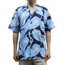 ショッピングアロハシャツ 【送料無料】 Avanti 1202 MAI'A Vintage-style Silk Aloha Shirt ヴィンテージスタイル アロハシャツ シルク100% 半袖 MENS メンズ NAVY ネイビー S-L