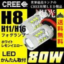 車検対応 簡単取付 CREE 爆光 80W キューブ H20.11 〜 Z12 用 LED フォグランプ H8 2球セット 白 ホワイト 黄 イエロー フォグ 配線不要 【メール便配送商品】