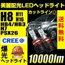 送料無料 LEDヘッドライト フォグ H8/H11/H16/HB4/HB3/H10/H7/PSX26 10000ルーメン 1年保証 抜群の配光精度 美麗なカット...