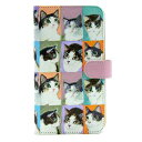 ショッピングマンハッタナーズ マンハッタナーズ スマホケース ウォーホル方式のフェデリコ 75-8207-BLU Manhattaner's 猫グッズ 猫雑貨