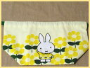 [miffy] lunch drawstring purse lunch bag flower yellow♪