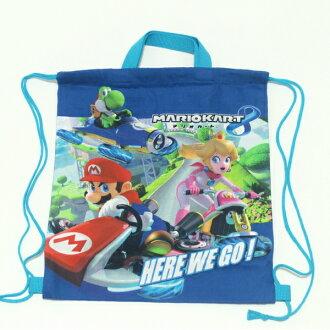 樂天超級銷售拉繩 L Mario 孩子幼稚園苗圃花園小學的孩子 ! 玩具入場玩具入口玩具尼龍拉繩袋午餐袋