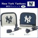 ラウンドファスナー財布 ニューヨークヤンキース メジャーリーグ 二つ折り 子供用 小学生 プレゼント あす楽対応