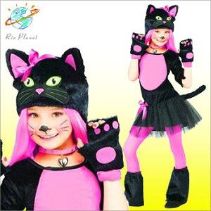 ハロウィン 衣装 子供 仮装 黒猫 キッズ コスプレアニ