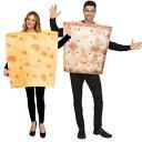 チーズ クラッカー カップル おもしろ 仮装 コスチューム コスプレ お笑い 衣装 ハロウィン CHEESE & CRACKER