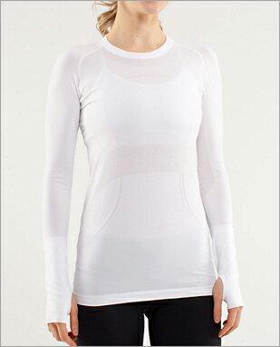 ルルレモン ランニング ウェア lululemon athletica Run: Swiftly Tech Long Sleeve カラー:ホワイト