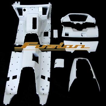 代引き手数料無料! フュージョン MF02 ホワイト 塗装済み インナーカウル 外装 カスタム パーツ ホンダ FUSION